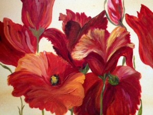 Cadmium Red Poppies