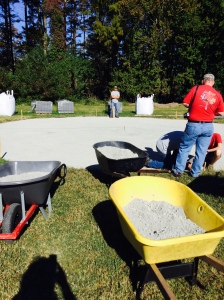 Eagle Scout Project - Warrior Fire-Pit. Materials donated by Lancaster Farms, Belgard and Luck Stone!